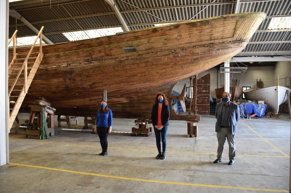 El Consell de Mallorca salva de la destrucción la barca de bou Nuevo Tomás