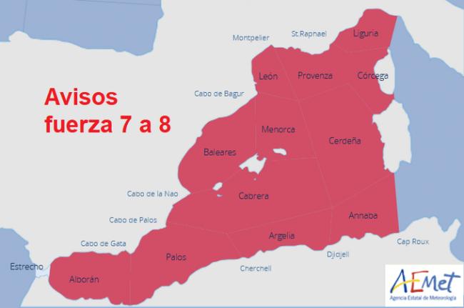 Hoy miércoles vientos fuertes y tormentas en Baleares