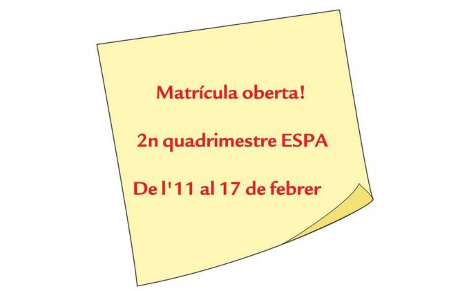 Se inicia el proceso de matriculación de educación secundaria para personas adultas (ESPA)