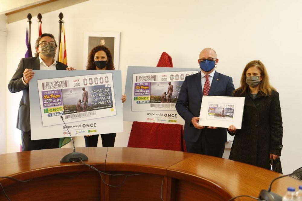 La ONCE rinde homenaje al campesinado de Mallorca con el cupón del sorteo del Día de las Illes Balears