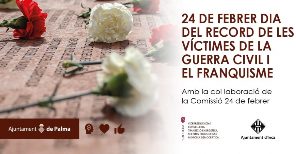 L'Ajuntament de Palma s'afegeix als actes del Dia de Record a les Víctimes de la Guerra Civil i el Franquisme