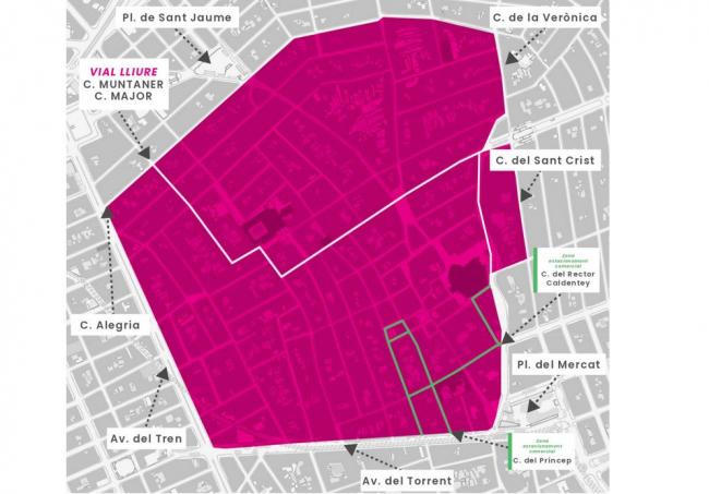 Manacor prohibirá la circulación de coches en 67 calles del centro
