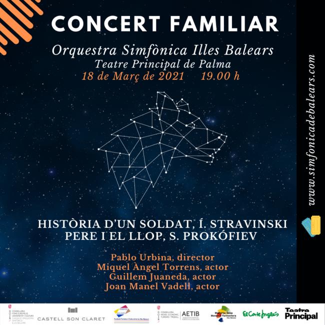 Historia de un soldado y Pedro y el lobo en el nuevo concierto familiar de la Sinfónica