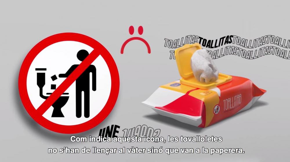 Campaña de sensibilización para desechar correctamente las toallitas y el papel higiénico húmedos