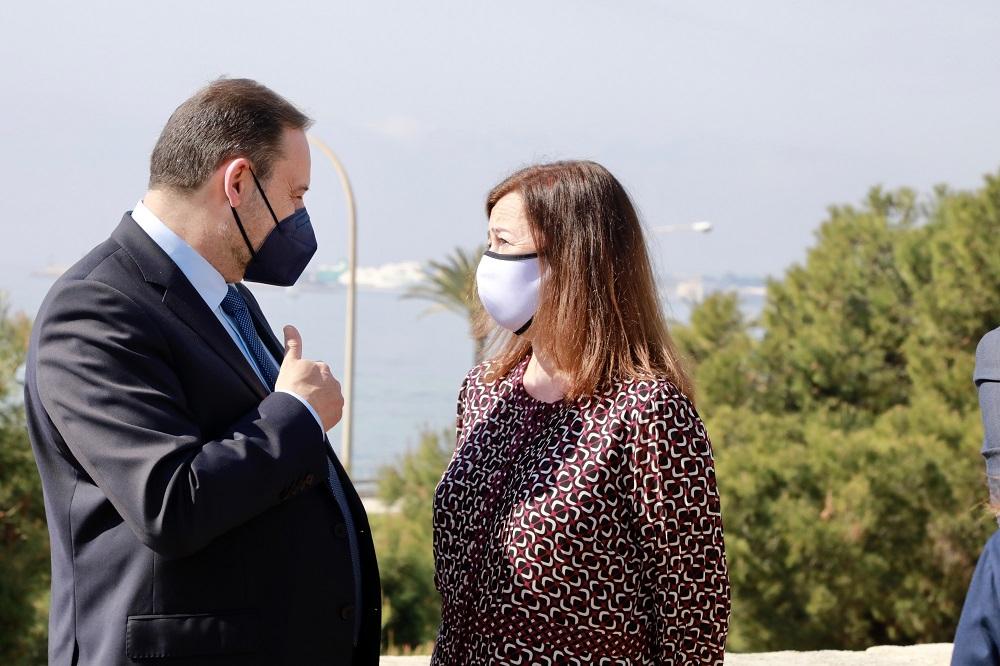 La presidenta Armengol y el ministro Ábalos han visitado las obras del Baluard del Príncep de Palma