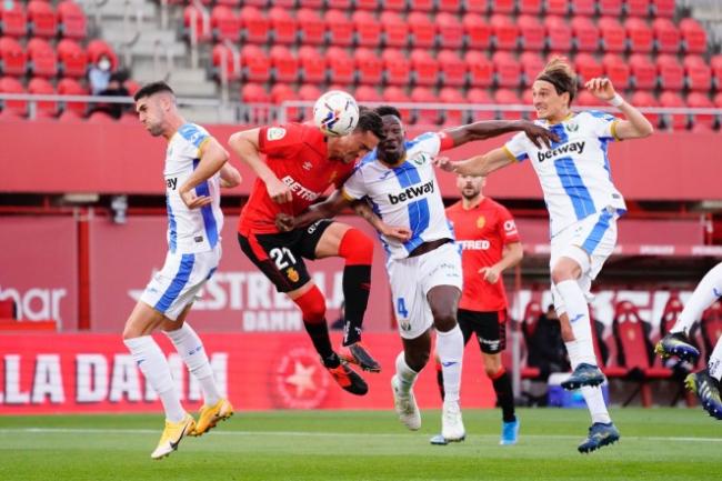 El RCD Mallorca aguanta y gana al CD Leganés (1-0)