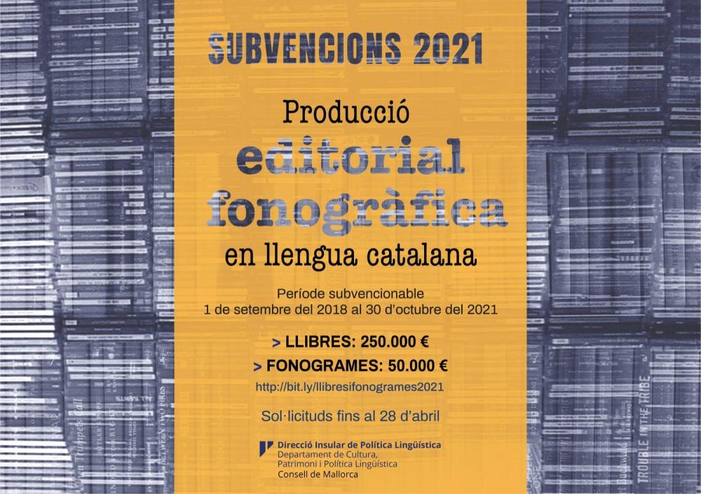 El Consell destina 300.000 euros a la edición de libros y fonogramas en catalán