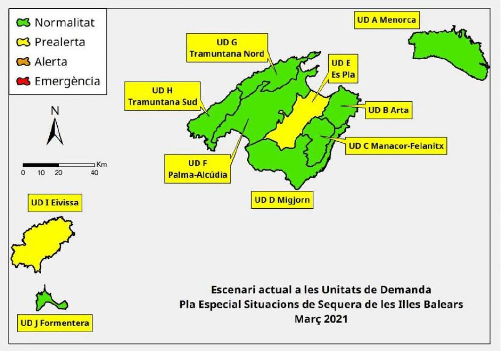 Las reservas hídricas de las Islas Baleares se sitúan en el 57%