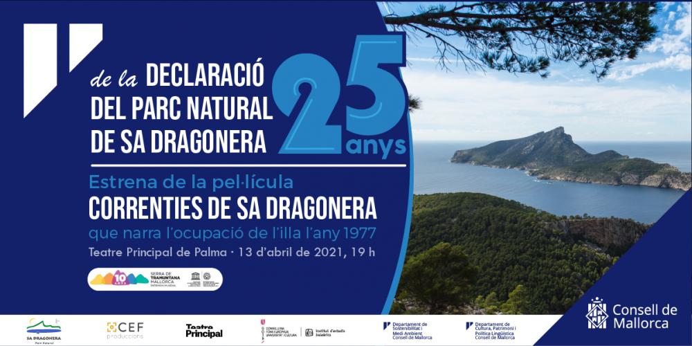 Sa Dragonera celebra el 25è aniversari de la declaració de Parc Natural amb l'estrena de la pel·lícula Correnties de sa Dragonera