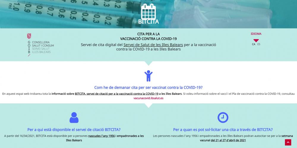 La Conselleria de Salud pone en marcha la web de cita para ser vacunado contra la COVID-19