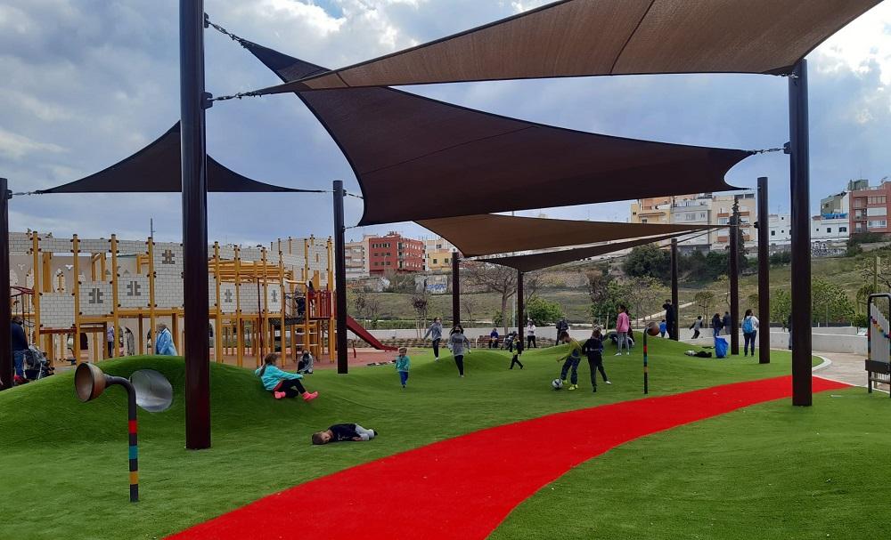 Palma abre al público el primer parque infantil cien por cien accesible