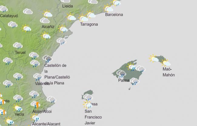 Hoy miércoles y mañana jueves se esperan lluvias en Mallorca