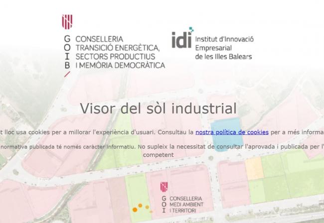 Nuevo sistema de información geográfica para conocer la disponibilidad de parcelas industriales en las Baleares