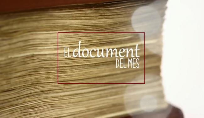El Cerimonial de l'Arxiu protagoniza el Documento del mes del Archivo del Reino