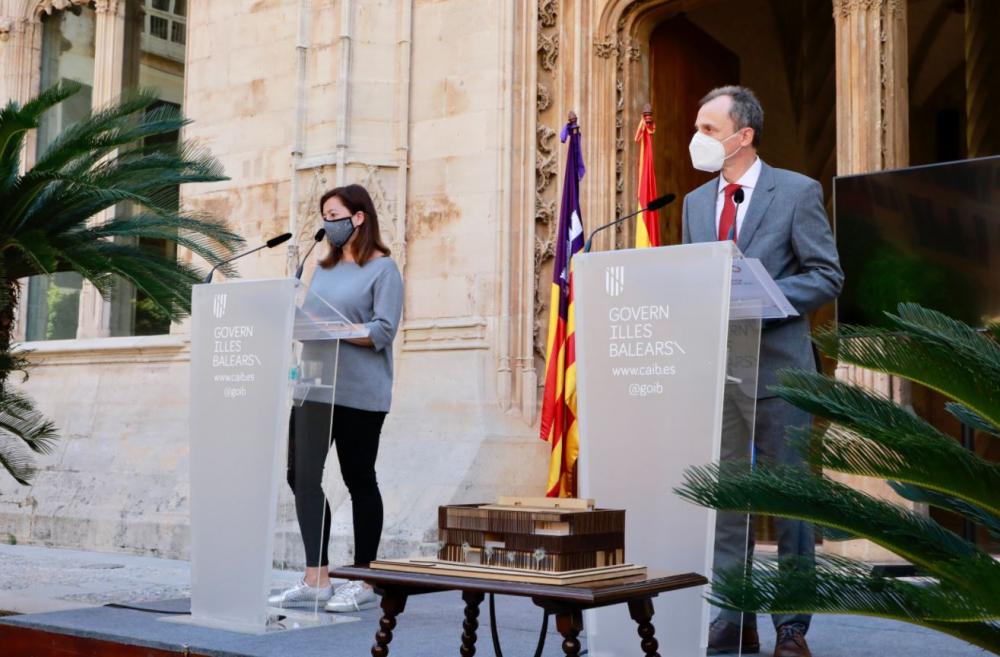 Armengol y el ministro Duque presentan el proyecto del nuevo edificio del SOCIB
