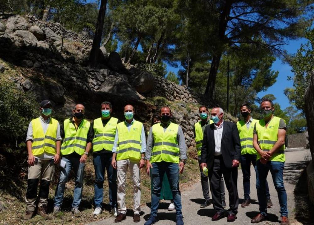 La colaboración entre Medi Ambient y Red Eléctrica permite disminuir el riesgo de incendio forestal en tres zonas de Deià y Valldemossa