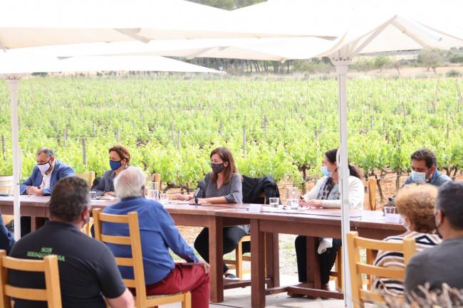 Armengol se reúne con el sector agroalimentario para tratar las novedades en las ayudas del fondo estatal