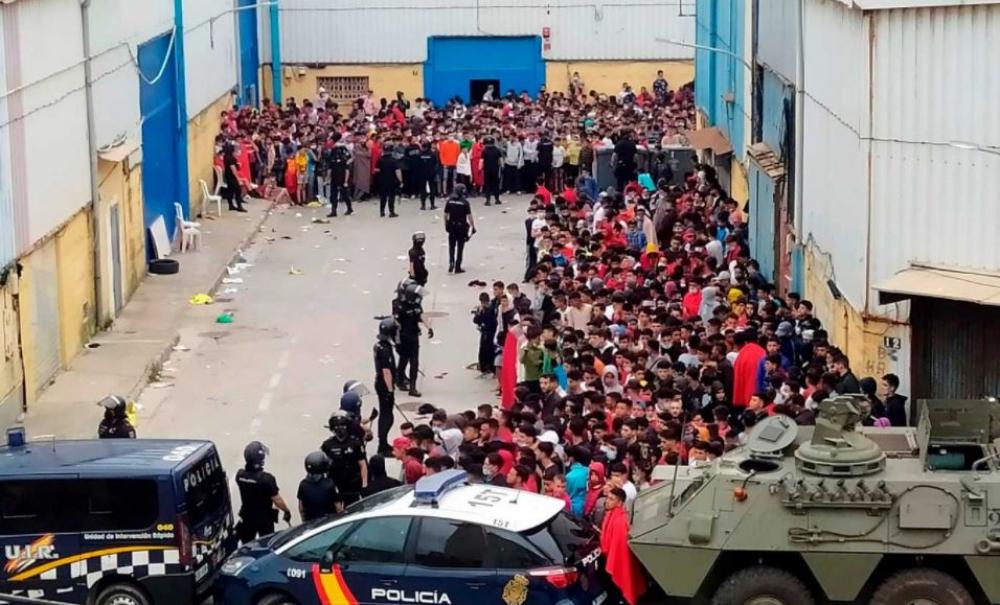 Llegada masiva de inmigrantes a la ciudad autónoma de Ceuta