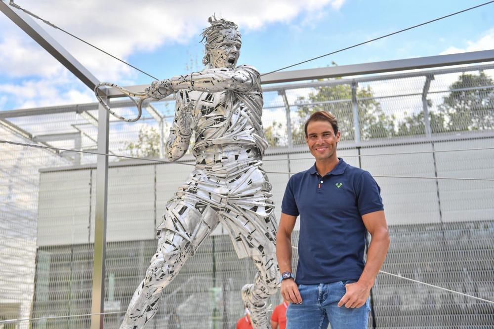 Rafael Nadal ya tiene su estatua en Roland Garros