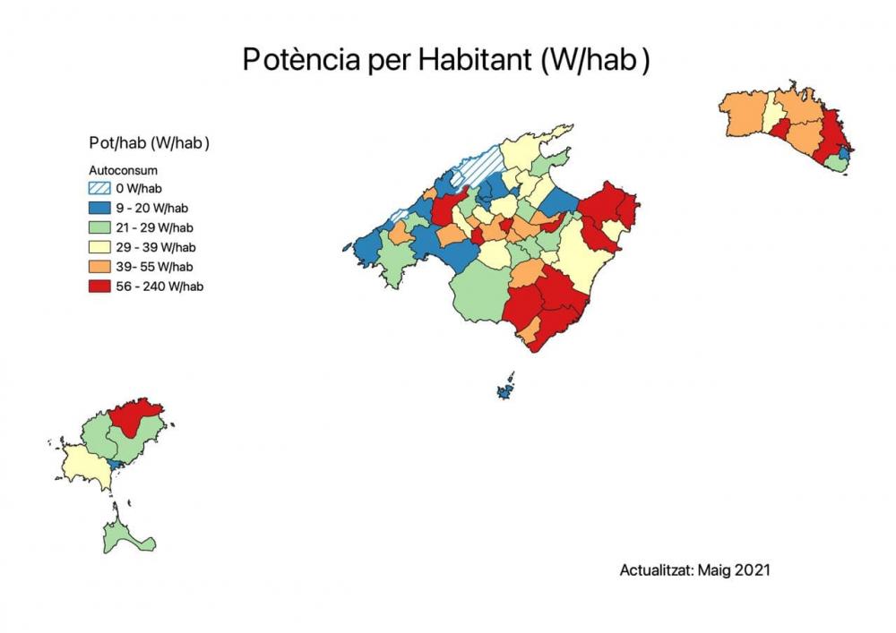 Las instalaciones de autoconsumo en las Illes Balears crecen un 160 % desde el 2019
