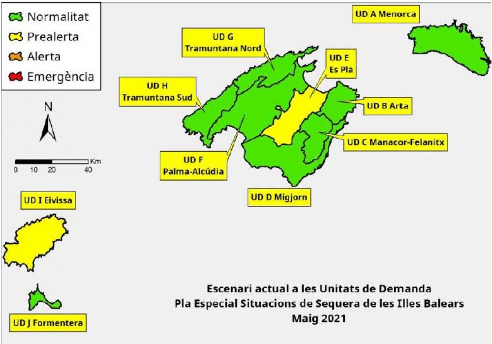 Las reservas hídricas de las Illes Balears se sitúan en el 55%