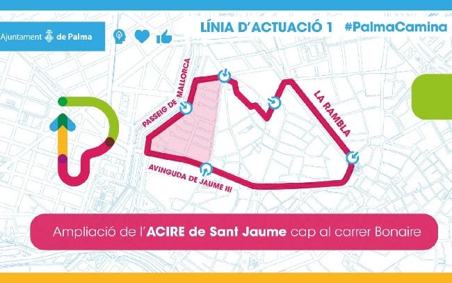 Hoy se inicia el procedimiento administrativo para ampliar el ACIRE Sant Jaume hasta la calle Bonaire
