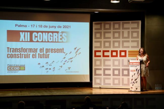 La presidenta Armengol clausura el XII Congreso Confederal de CCOO Illes Balears