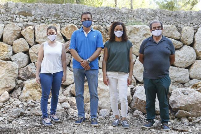 Cladera i Ribot inauguren els marges rehabilitats de la Ruta de Pedra en Sec a Pollença