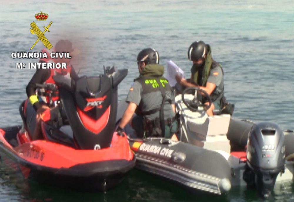 La Guardia Civil pone en marcha campañas de control de embarcaciones deportivas, de recreo y de motos náuticas