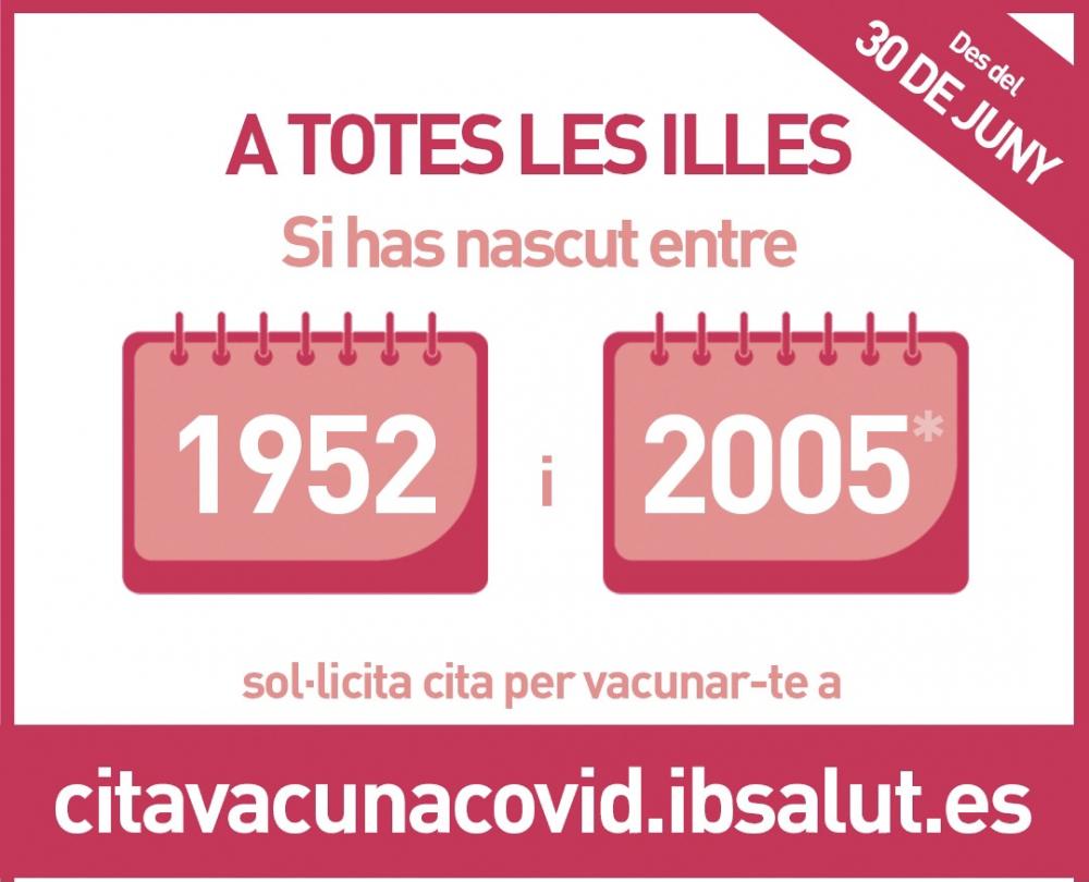El grupo de 16 a 29 años en Mallorca podrá pedir cita para vacunarse a partir de este miércoles