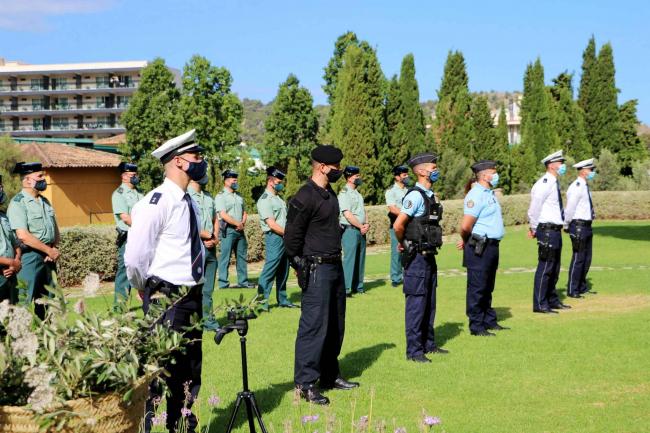 La Guardia Civil presenta los policías internacionales participantes en el Plan Turismo Seguro 2021