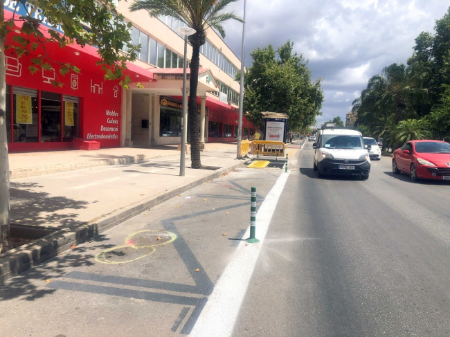 CAEB critica duramente a Cort por el trazado del nuevo 'carril bici' de la calle Aragón