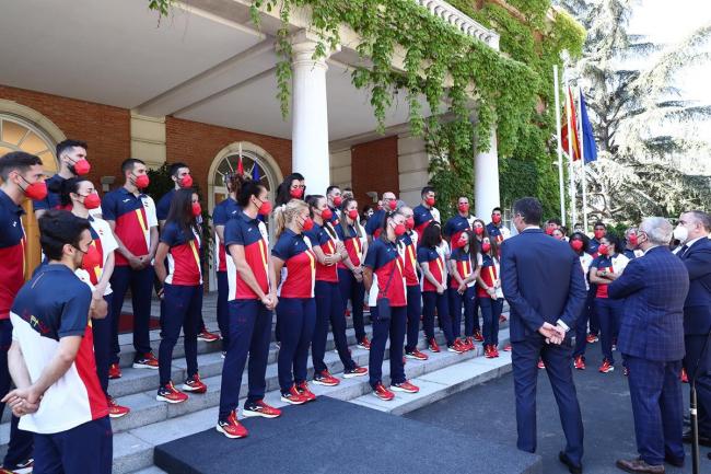 Sánchez transmite 'el apoyo de todo el país' a los olímpicos españoles, que participan en unos Juegos marcados por la pandemia