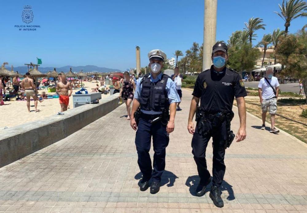 Patrullas conjuntas de la Policía Nacional con la Policía Italiana y Alemana