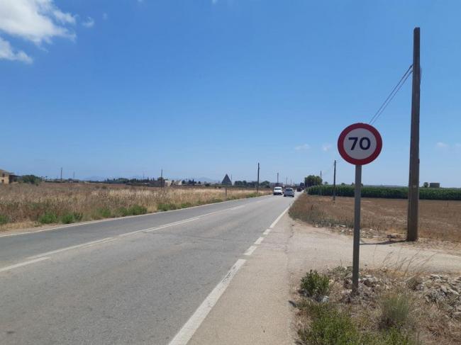 Se reduce la velocidad permitida de 90 a 70 en el tramo de entrada a sa Pobla para mejorar la seguridad