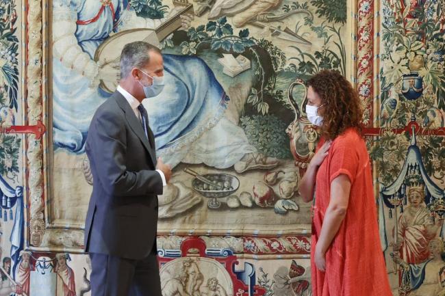 Audiencia de la presidenta Cladera con el rey Felipe VI en la Almudaina