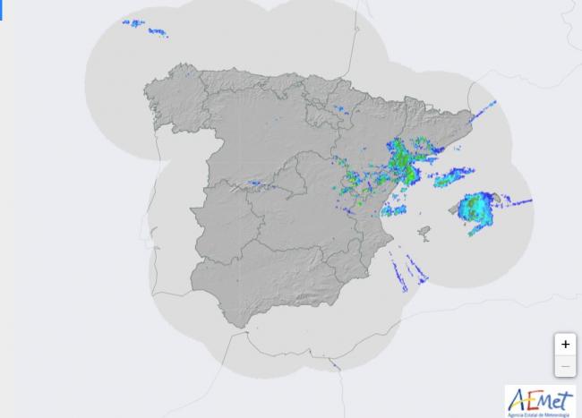 Las tormentas han perdido fuerza y ya se encuentran en la mitad este de Mallorca
