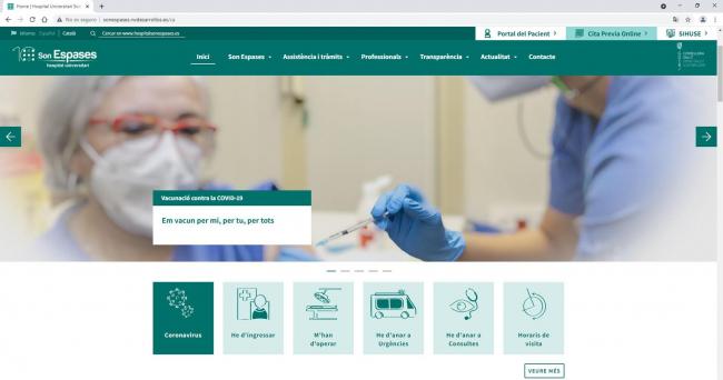 Son Espases estrena nuevo web para acercar el Hospital a los usuarios