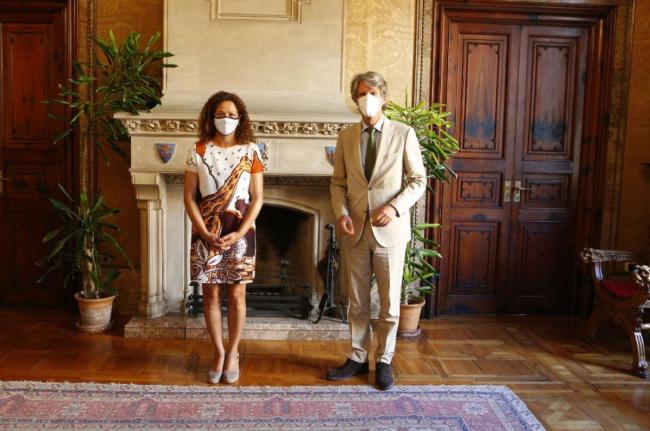 La presidenta Cladera valora acciones conjuntas de promoción turística con el embajador de los Países Bajos