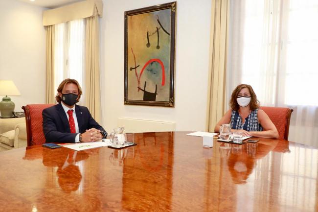 Jorge Campos tras reunirse con Armengol: «lo mejor para Baleares es que dimita y convoque elecciones»