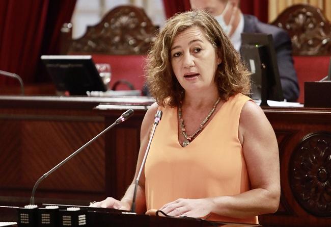 Armengol anuncia que Baleares logrará la plena recuperación económica y laboral durante el 2022