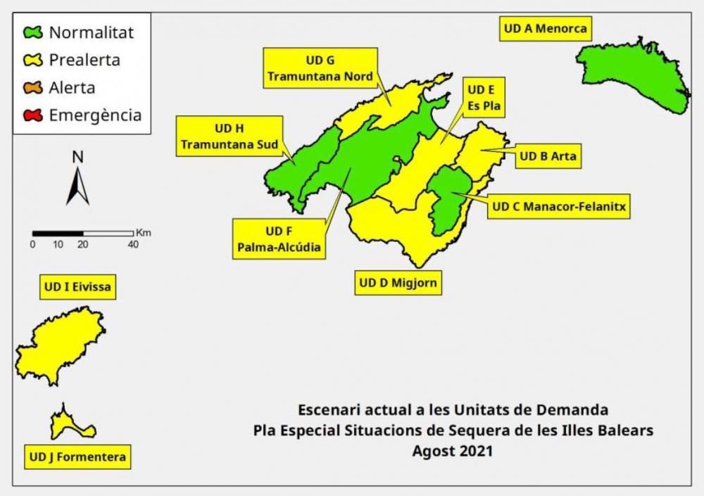 Las reservas hídricas de las Illes Balears se sitúan en el 46%