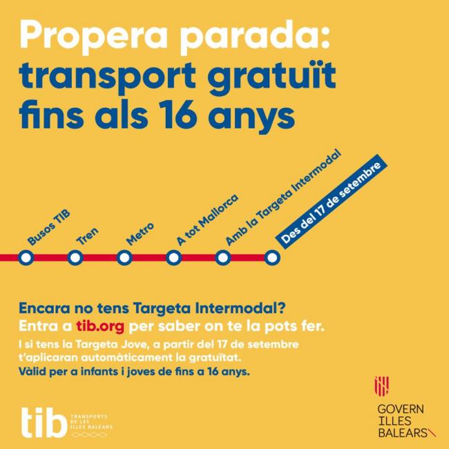 Los menores de hasta 16 años ya pueden viajar gratis con el bus interurbano, el tren y el metro
