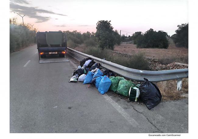 Llucmajor sancionará con multas de hasta 3.000 € el vertido de basuras y residuos en los caminos del municipio