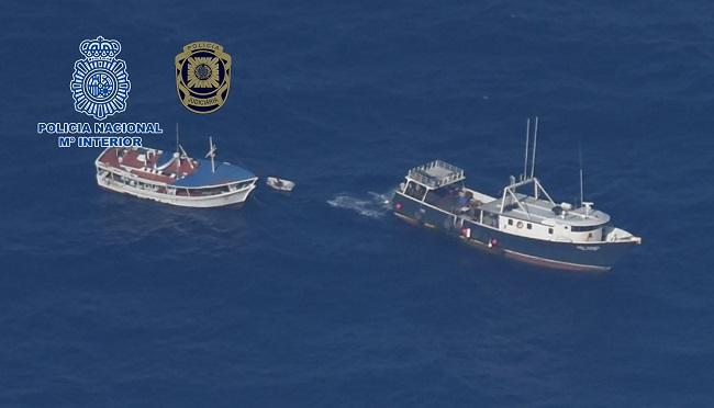 Intervenidos 4.248 kilogramos de cocaína en un pesquero venezolano que tenía como destino España