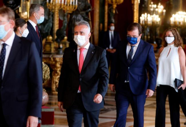 Armengol asiste a la celebración de los actos del 12 de octubre en Madrid