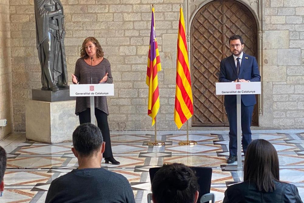 Baleares y Catalunya acuerdan trabajar conjuntamente en proyectos para impulsar la recuperación económica